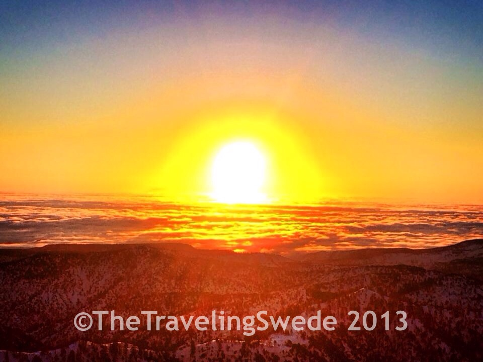 Sunrise, being above the clouds and in Bryce Canyon. Life is good!