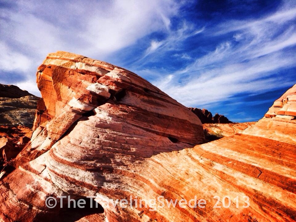 """Worth the hike. The sun was not in my favor but a decent photo of a """"wave rock."""""""