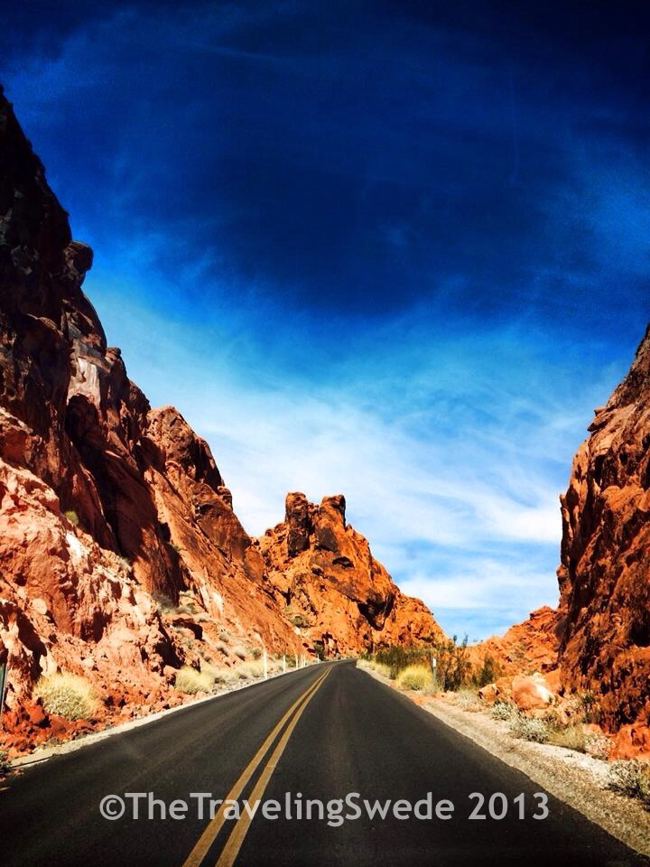 Part of the scenic drive loop at Valley of Fire.