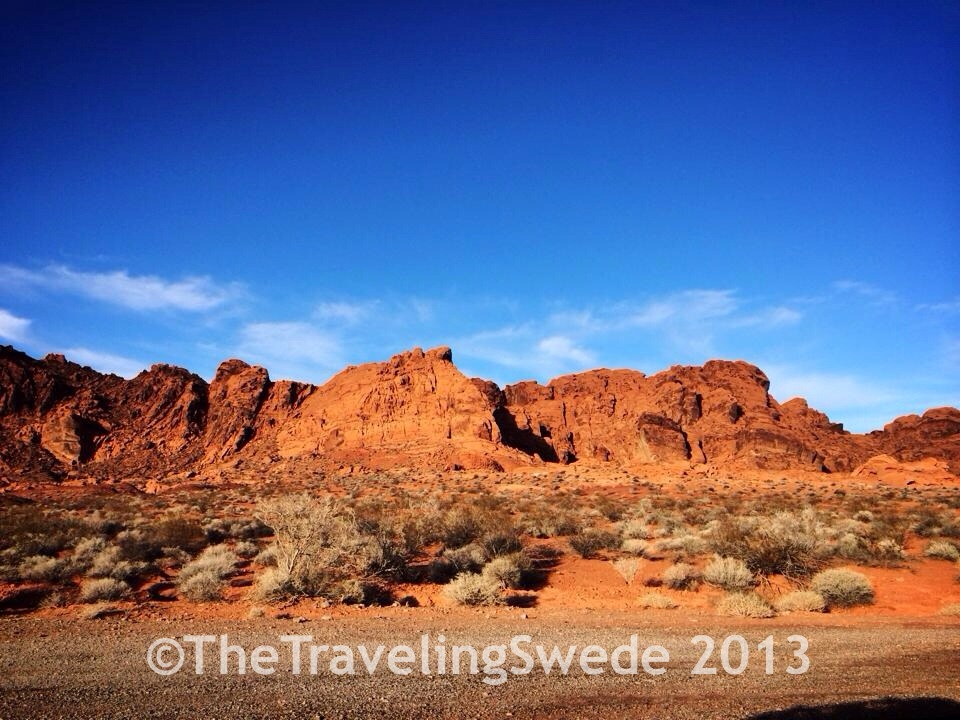 Leaving the Valley of Fire scenic drive and the park. Still quite scenic...