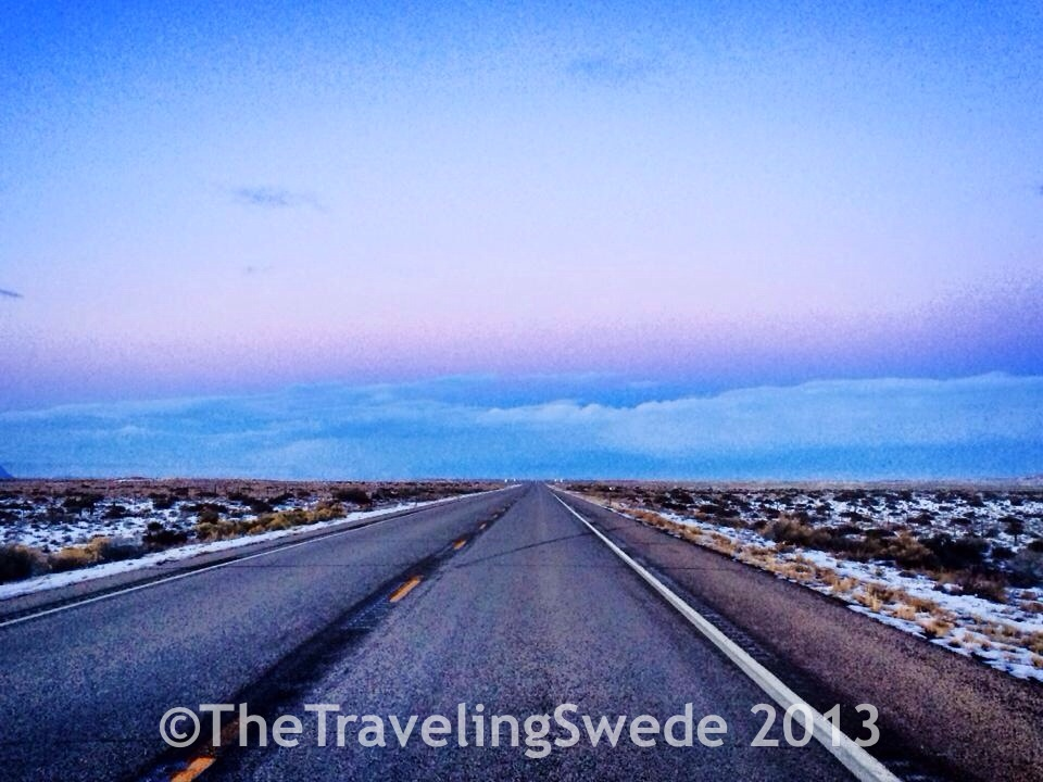 It almost felt magical driving back home, the colors, the straight road ahead...ah, life in the desert.