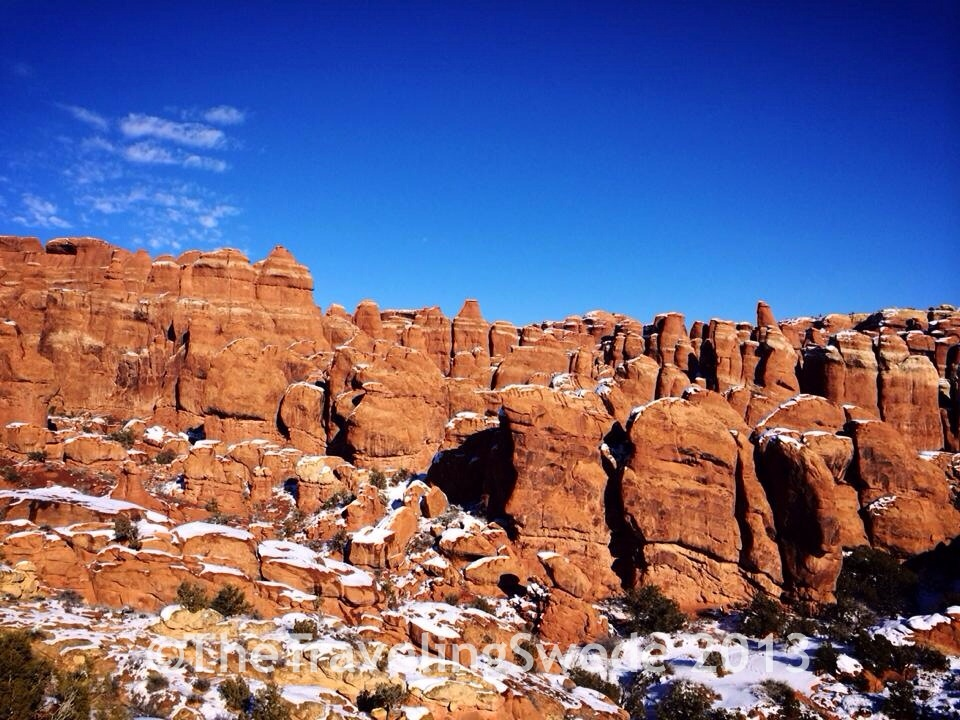 Fiery Furnace overlook. A great place for a hike, but only with a ranger and permit.