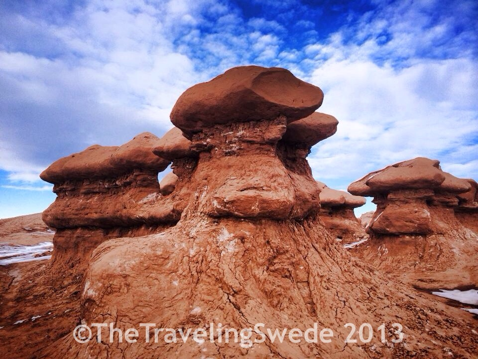 Goblins formed from sandstone. They are odd looking and each different.