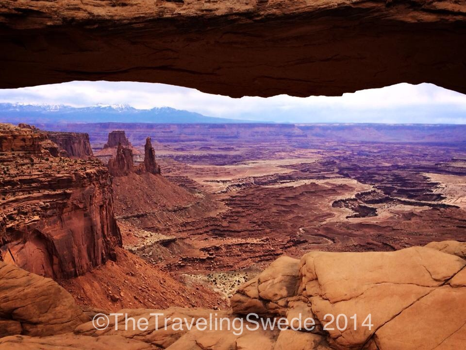 One of the most photographed arches in the world. View through Mesa Arch.