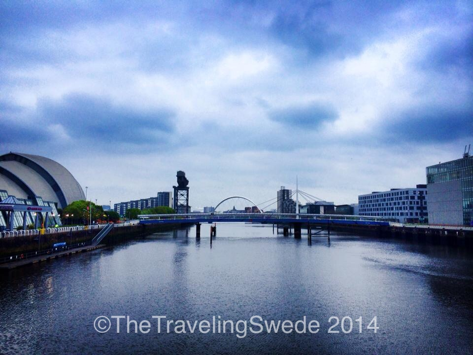 River Clyde - the way Glasgow connects to the ocean. The Armadillo (Auditorium) on the left.