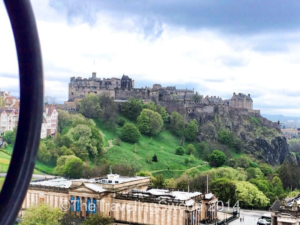 View of the Edinburgh Castle from the first platform at Scott's monument. Now that is a castle!