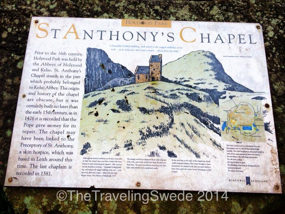 As you are coming off one of the trails you have St. Anthony's Chapel.