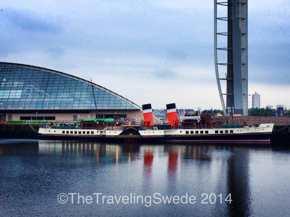 P.S. Waverley, the last passenger-carrying paddle steamer in the world. She has been restored and you now enjoy a day out on the sea by booking one of the many day trips the excursion company offers.