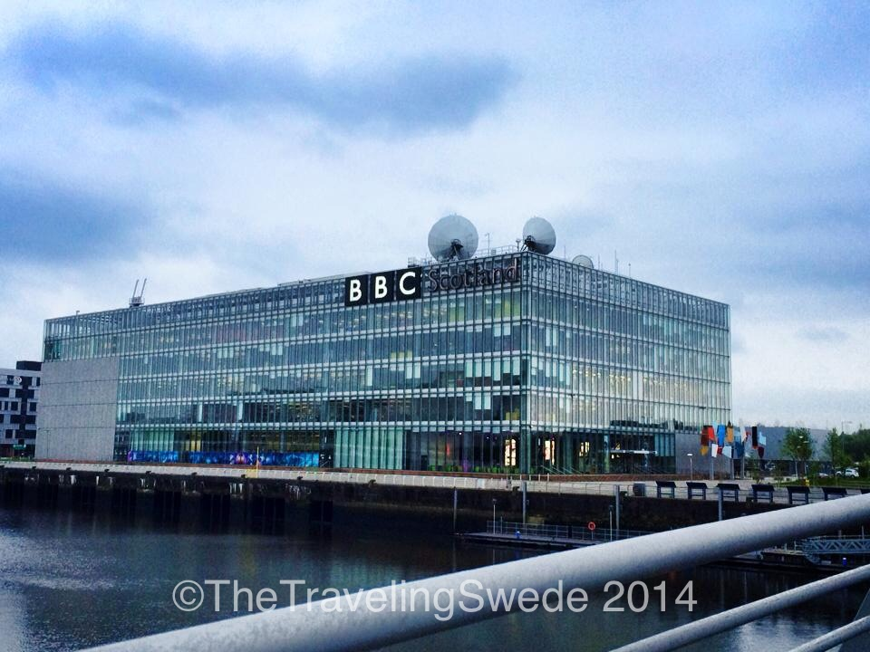 I know, just a building holding BBC Scotland. But  I am in the land of Tardis and Dr. Who after all.