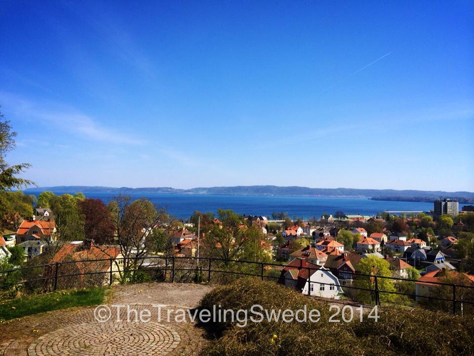 Another view from Stadsparken of the city and lake Vättern.