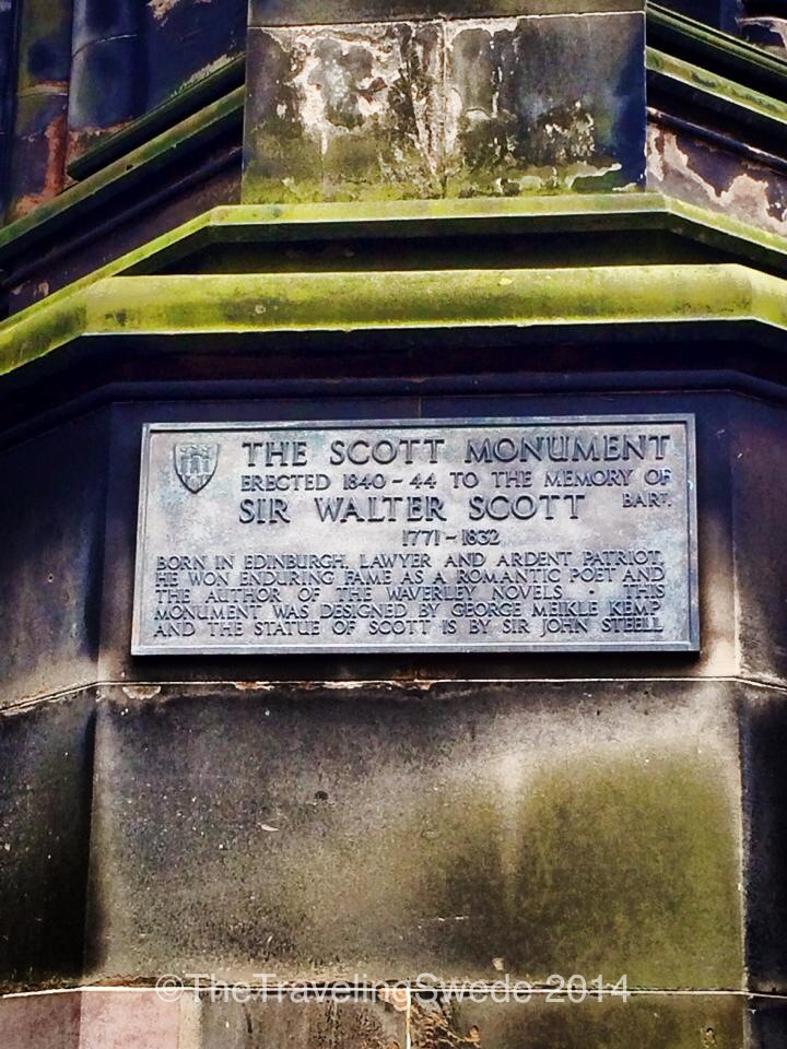 If you are into books you know who Sir Walter Scott is...but if not, here's a quick summary of his significance and why he has a monument dedicated in his name.