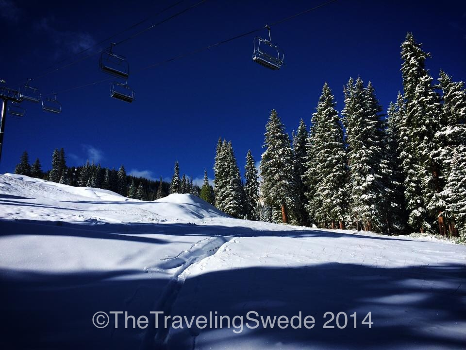 The trek continued up...this is what we call a bluebird day!