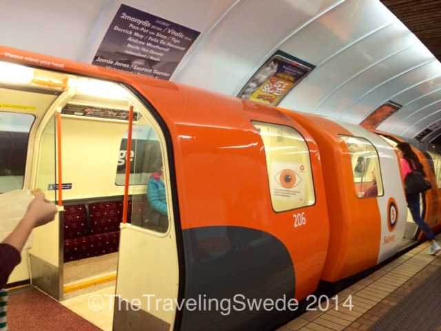 Glasgow subway. It's tiny and cute. If you're 6 ft tall you will have to duck to go through the doors.