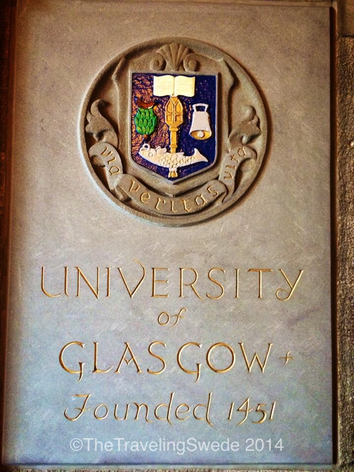 How old is your school? University of Glasgow was founded 1451. Just walking around you could feel all the amazing history that this school carries and the many generations of students it has shaped.