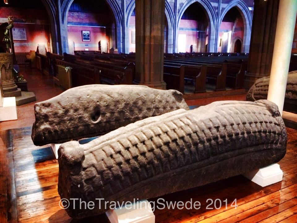 These are quite large hogbacks and amazing pieces of art. Imagine sitting with a very primitive tool compared to today and create these patterns by hand. No Facebook to distract them back then...