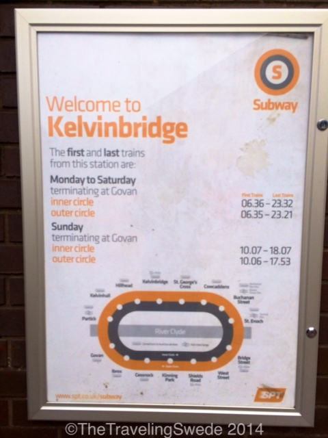 In case you want to spin in an oval circle all day you can. But only in Glasgow where the subway goes in circles.