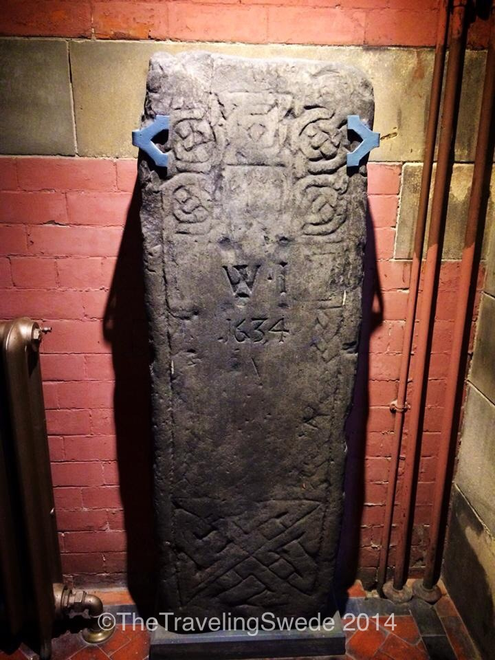 "Instead of doing their own gravestone old ones were ""recycled"" and used to engraved WI 1634 on a thousand year old medieval gravestone."