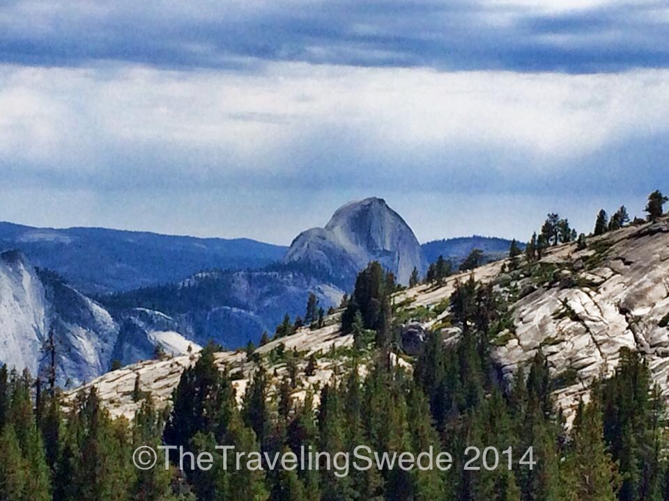 View of the Half Dome from Olmsted Point that lays about half way along Tioga Road.