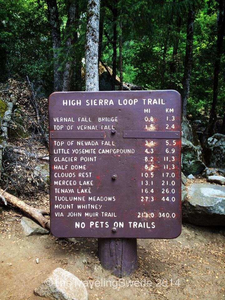 The Mist Trail connects to a lot of different trails. Can't wait to come back and hike some more.