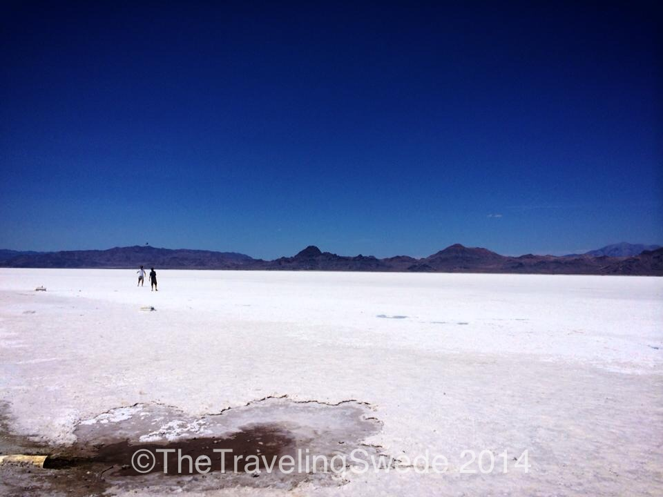 But you can do other things on the salt flats too...like playing catch. These two guys sounded Italian and decided to play catch with an American football.