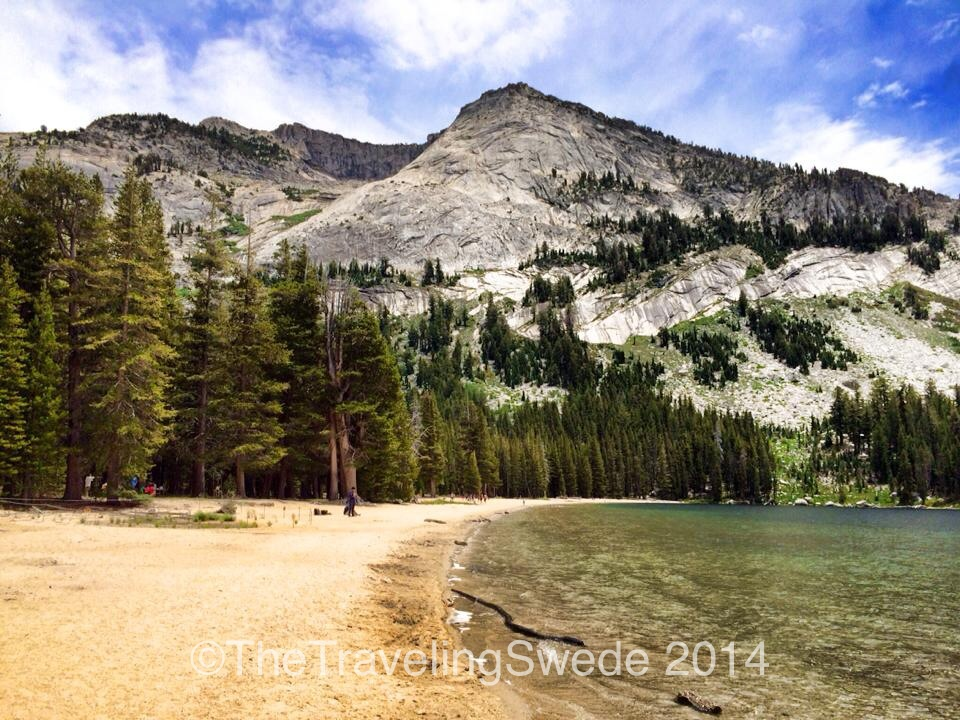 Along Tioga Road lays Tenaya Lake. Beautiful mountain lake. And the water was surprisingly pleasant and warm enough for a swim. Some young fellas that had just finished college was out for a road trip. I told them to stay out on the road and never get stuck behind a desk job!