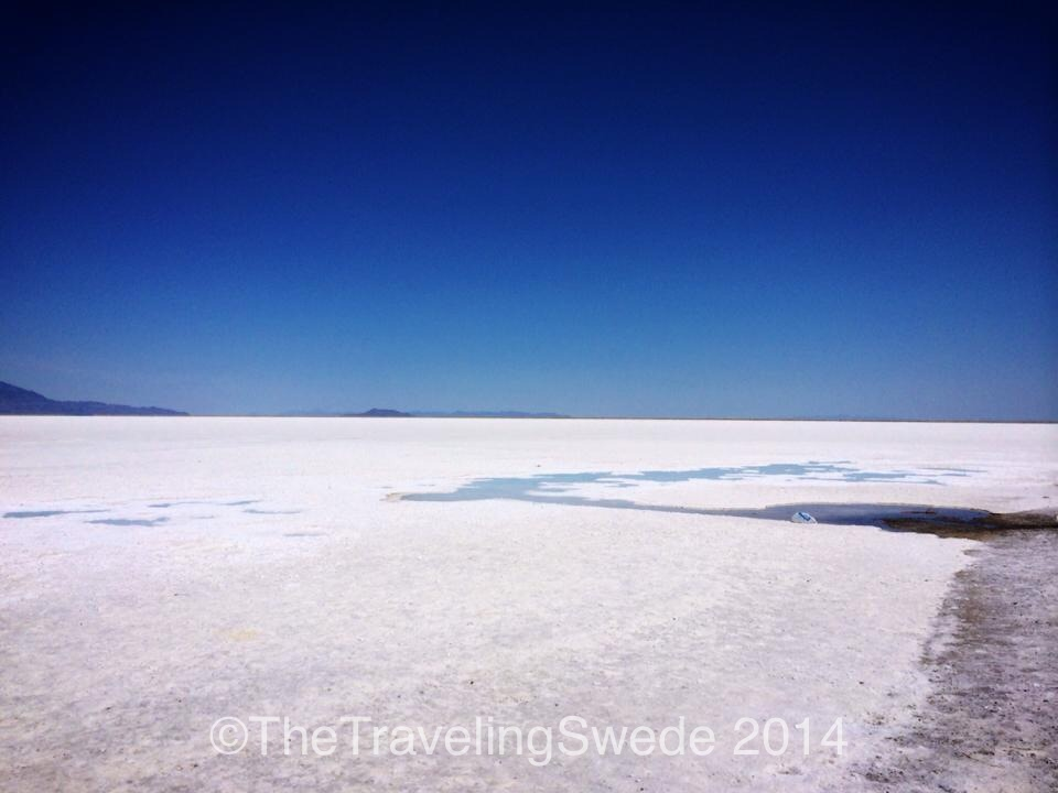 Nothing but salt as far as you can see...it's a really cool place to visit because it's so different!