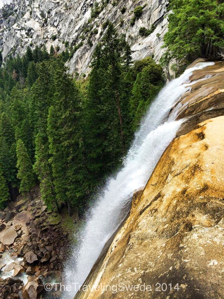 Top of Vernal Fall. I love hiking up to the top and look down. Imagine this on a normal water year!