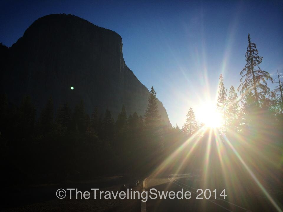 El Capitan at sunrise.