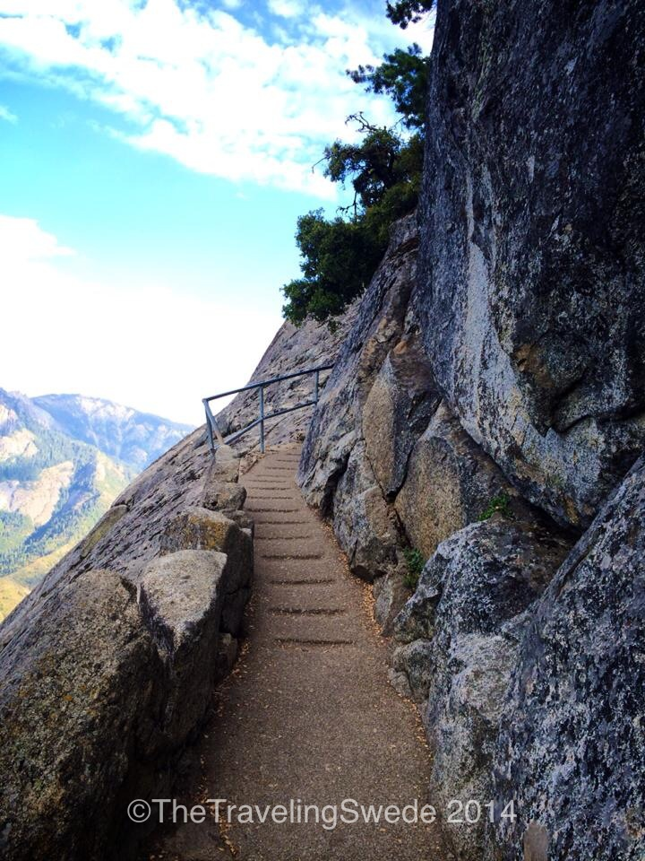 Let's start hiking up a rock!