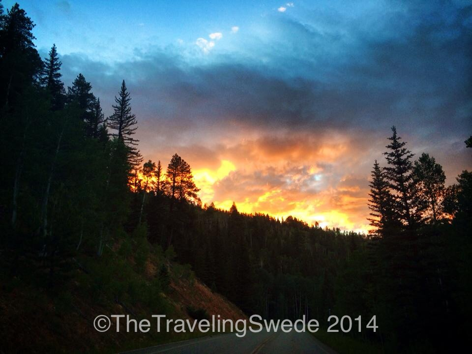 Wow! This was the sunrise as I was driving towards the park and Bright Angels Point from where I had camped.