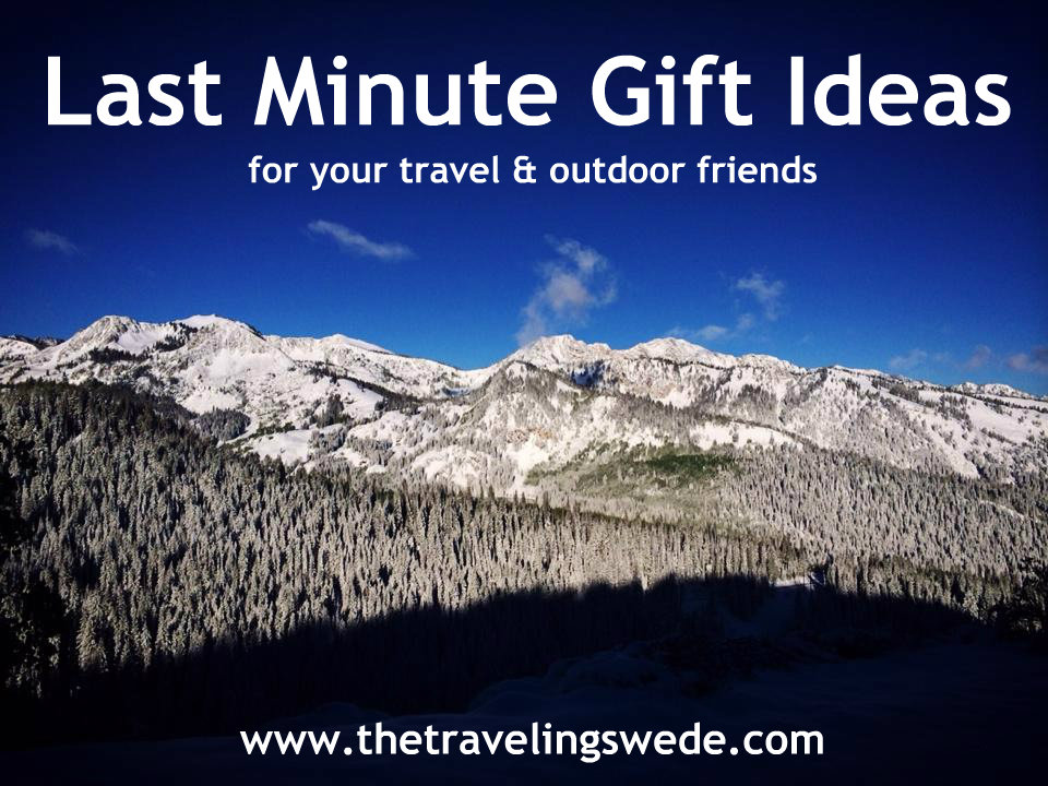Last Minute Gift Ideas for your travel and outdoor friends.